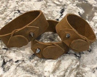 Men's leather cuff bracelet, leather cuff bracelet, light brown leather bracelet, cuff leather bracelet, men's cuff leather bracelet.