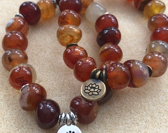 Men bracelet red agate stone, red agate natural stone bracelet, men's natural stone bracelet, red agate stone men's yoga bracelet, red stone
