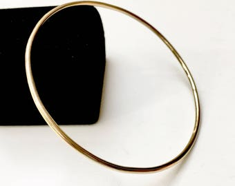 12 gauge wire bangle etsy 14k solid gold bangle thick 203mm 12 gauge full round wire smooth or hammered luxurious heirloom quality hallmarked 14k keyboard keysfo Images