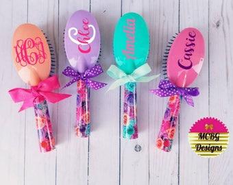 Girls easter gift etsy more colors monogrammed hairbrushespersonalized hairbrusheseaster basket negle Images