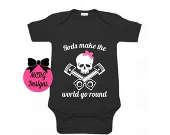 Rockabilly Punk Rock Baby Woman Black Tank Top Shirt Hot Rod Racing Skull