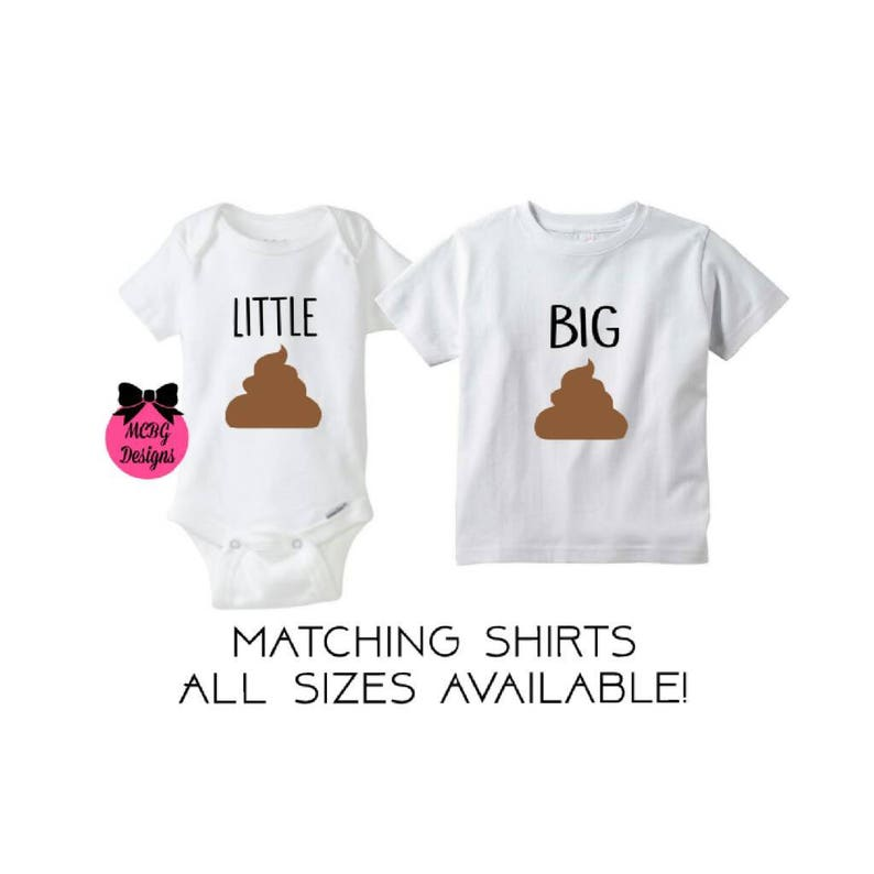 08fac13f48a4 Matching Sibling Shirts•Funny Brother Or Sister Shirts•Matching Shirt Sets•Siblings  Shirts•Big Brother•Big Sister•Little Sister•Poop Shirts