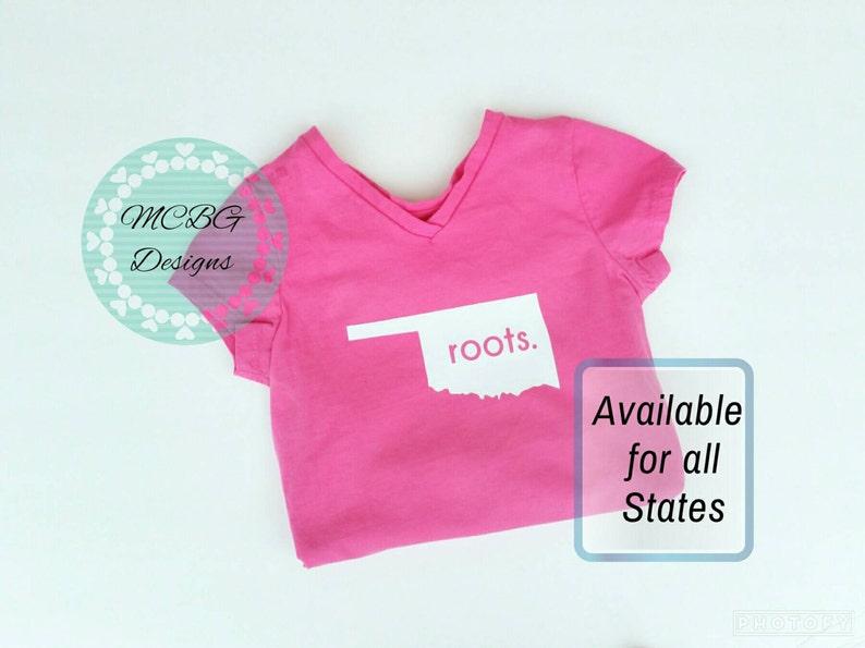 93faac0a2 Roots shirt state shirts baby outfit Oklahoma roots shirt | Etsy