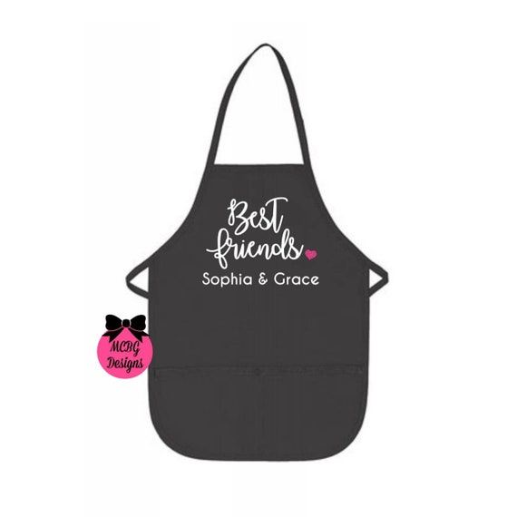 Valentine Apron for Women Personalized Valentine Friend Gift Best Friend Gift Friends Valentines Day Gift