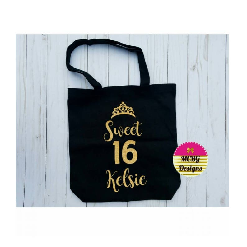 Personalized Sweet 16 Beach Bag\u2022Sweet 16 Birthday Gift\u202216 Year Old Girl Gifts\u2022Sweet 16 Party Favors\u2022Teenage Girl Gifts\u2022Birthday Gifts