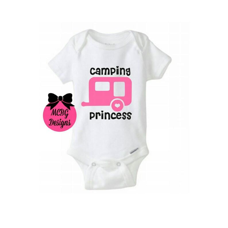 f1774d18e Camping princesa Body de bebé o niño pequeño ShirtAll
