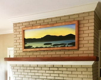 Custom Solid Hardwood Stained Poplar Frames