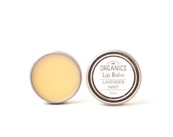 Natural Lavender Mint LIP BALM - 0.5 oz // Soothing + Nourishing with Organic Ingredients