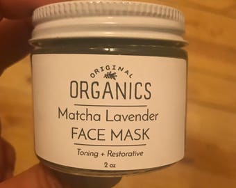 Matcha Lavender FACE MASK // 2 oz: Toning + Restorative