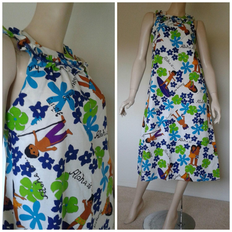 507c6429ed342 Vintage Dress Hawaiian Fashions Sears Novelty
