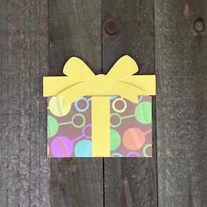 Baby Shower  Gift Card Holder Baby Shower Card Money Holder Gender Neutral Woodland Personalized Baby Gift Shaker Card Money Holder