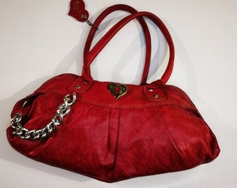 Sofie C Handbag  buttery soft red italian leather Carbotti purse