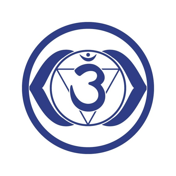 Third Eye Chakra Ajna Vinyl Sticker Energy Body Yoga Aum