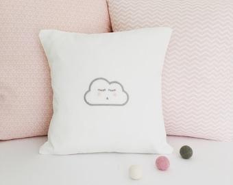 Embroidered Eyelash Cloud Cushion