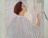 1950s/1960s Vintage Knitting Pattern in 'Picotee' for bed jacket/cape, Templetons.