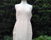 Vintage 1960s, 1970s pale peach full slip, petticoat. From St Michael, Lingerie, lounge wear