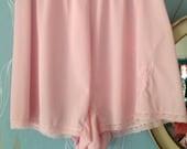Vintage 1950s, 1960s Pale Pink Kayser Nylon Panties, Knickers, Lingerie, Underwear, Boudoir