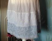 Vintage 1950s, 1960s Blue Net & Nylon Petticoat, Crinoline, Full Skirt. As Seen.