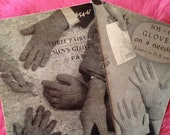 Two Vintage P & B Wools Knitting Pattern Booklets for Gloves