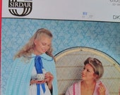 1970s, 1980s Vintage Knitting Pattern from Sirdar for Ladies bed jacket and cape. Nightwear.