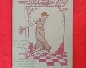 Vintage c. 1920s, 1930s Advertising memorabilia, ephemera. Menu blank, ephemera, Art Deco, Interior Designer. Alice Courtois.
