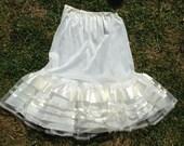 Vintage 1950s, 1960s White Net Petticoat, Crinoline. Unworn in Original Pack. Sidroy. Rock 'n' Roll, Full Skirt.