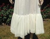 Vintage 1950s paper Nylon & Net Off White Petticoat, Crinoline. Lingerie, Under Skirt. Rock 'n' Roll, Full Skirt.