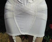 Vintage 1960s, 1970s Roll On White Nylon Girdle. Shapewear, Foundation Wear, Underwear, Lingerie. Suspenders, Pin-Up. St Michael.