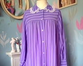 Vintage 1970s Purple Stri...