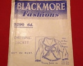 Vintage 1930s Blackmore Fashions Sewing Pattern for Dressing Jacket, Bed Jacket. No. 5290