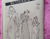 Vintage 1940s, 1950s Butterick sewing pattern for girls nightgown. Sewing, craft, children's nightwear.