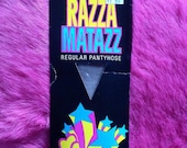 Vintage 1970s, 1980s Razza MAtazz Regular Tights, Pantyhose. Nylons, Hosiery, Lingerie, Fuller Figure. X-Large, Grey.