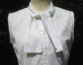 Vintage 1950s White Cotto...