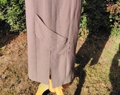 Vintage 1980s Pencil Skirt, Straight Skirt, Wiggle Skirt. Pale Brown, Beige, Biscuit. BNWT, Unworn.