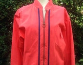 Vintage 1960s red wind-cheater, Swingster, motor racing jacket. Sports, Mod, Mid Century Retro menswear