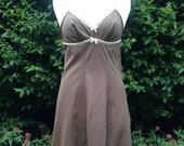 Vintage 1960s, 1970s Chocolate Brown full nylon slip, petticoat. From Pippa Dee. Lingerie, lounge wear