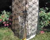 Vintage 1960s, 1970s Sheer Black Lace Waist Slip, Half Slip, Petticoat. Sears, USA. Underwear, Lingerie.