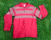 Vintage 1950s red & strip...