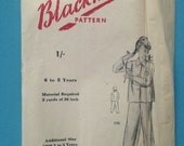 Vintage 1940s/1950s Blackmore sewing pattern for girls pyjamas