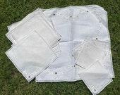24 Piece Set of c. 1940s Antique Table Linen, Table Cloth, Tray Cloth, Napkin, Coaster. Retro Homeware, Kitchenalia.