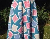 Vintage 1950s patterned f...