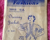 Vintage 1930s Blackmore Fashions Sewing Pattern for Dressing Jacket, Bed Jacket. No. 3044