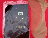 Vintage c. 1950s Firefly Seamed Stockings, Nylons, Hosiery, Lingerie, Underwear, With Pack.