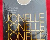 Vintage 1970s Jonelle Smooth Knit Stockings, Nylons, Hosiery, Lingerie, Underwear, Unworn in Original Pack