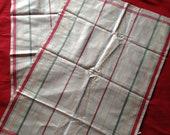 Two Matching Unused Vintage 1950s, 1960s Tea Towels, Kitchen Towels, Linen, Kitchenalia