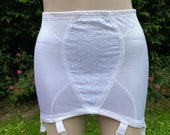 Classic Vintage Style Roll On White St Michael Girdle. Shapewear, Foundation Wear, Underwear, Lingerie. Suspenders, Pin-Up.