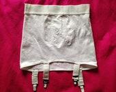 Vintage 1970s, 1980s Roll On White Nylon Girdle. Shapewear, Foundation Wear, Underwear, Lingerie. Suspenders, Pin-Up.
