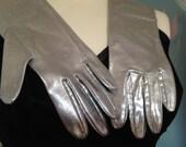 Vintage Silver Evening Gloves