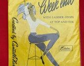 Vintage 1960s Weekend Seamless Stockings, Nylons, Hosiery, Lingerie, Underwear, Unworn. Cantille Hosiery, Enkalon
