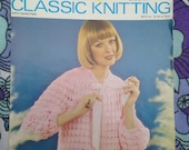 1970s, 1980s Vintage Knitting, Crochet Pattern from Lister, Lee Target for bed jacket.